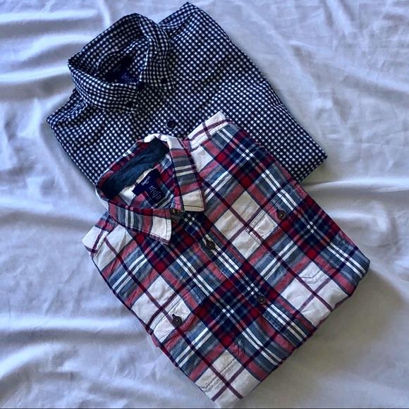 10a09024b GAP Shirts & Tops | Kids Boys Button Down Polo Shirt Bundle | Poshmark
